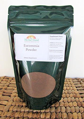 Eucommia Leaf - Pure Eucommia Leaf Powder (1/4 Lb or 4 Oz) with Free Shipping by Herbal Island