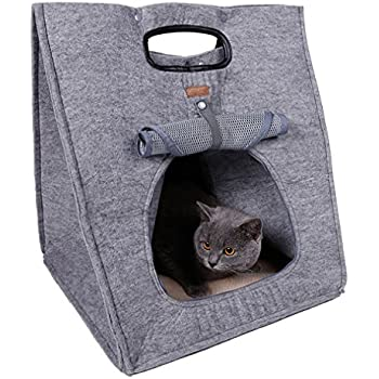 Amazon Com Portable Soft Pet Carriers Bed For Cat And