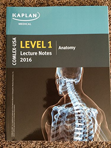 Kaplan Medical COMLEX Level 1 Lecture Notes (2016 Edition) Set of 8