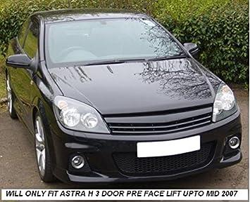 2 x Cite Opel Astra H 3 puertas Mark 5 frontal negro debadge Deportes parrilla: Amazon.es: Coche y moto