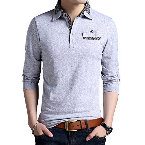 2733c3c6f Wishere New Men s Fashion T-Shirt Cotton Long-Sleeved Polo Shirt