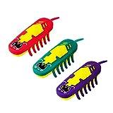 3pcs Mini Animal Toys Fun Pet Toys Robotic Insect Practical Jokes Hex Electronic Mouse Pet Dog Cat Toys Nano Bug