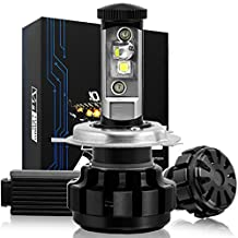 NINEO H4 LED Headlight Bulbs, Hi/Lo beam, 9003 CREE XPL Chips, Cool White Conversion Kit 80W 6000K 7,200Lm - 3 Yr Warranty