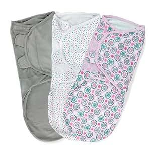 Summer Infant SwaddleMe Adjustable Infant Wrap, Geo Floral, Large, 3 Count (Discontinued by Manufacturer)