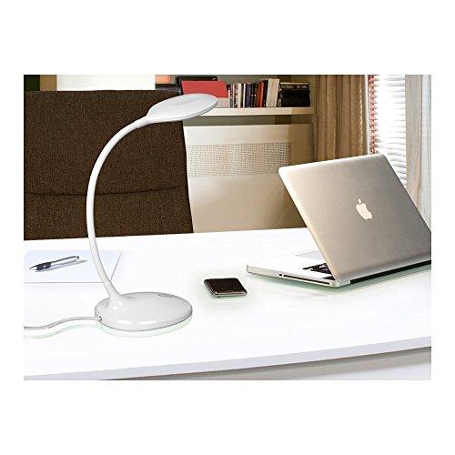 Schuller Spain 552758I4L Modern White Swan Neck Table Lamp 1 Light Living Room, bed room, Study, Bedroom LED, Adjustable swan neck desk lamp   ideas4lighting by Schuller