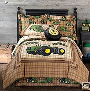 Amazon Com John Deere Tractor Boys Full Comforter Sheets