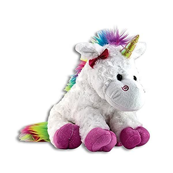 "The Petting Zoo - 10"" Rainbow Unicorn - Stuffed Animal Toy - Great for Baby/Toddlers/Kids - Boys & Girls 2"