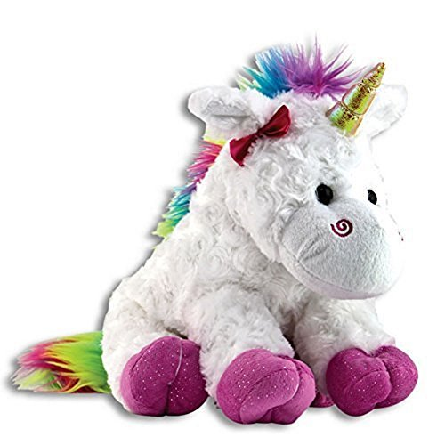 The Petting Zoo Plush Rainbow Unicorn - 10 Inches