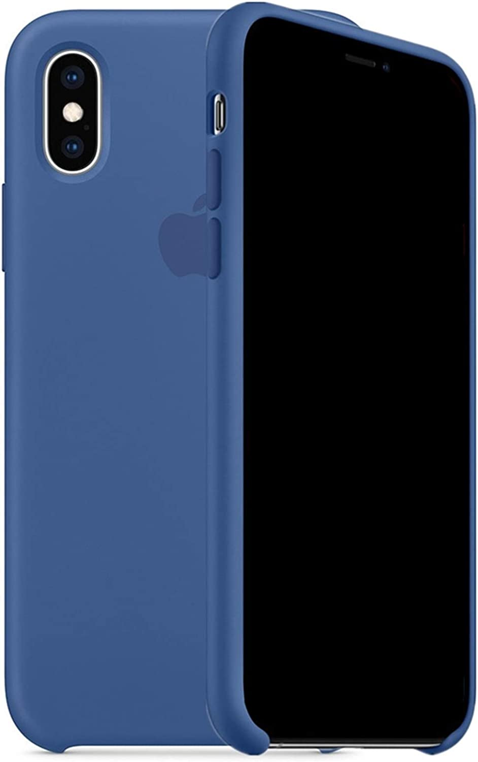 Kongwoo Silicone Case (Rubber Hard Cover) Compatible with iPhone Xs (Delft Blue)