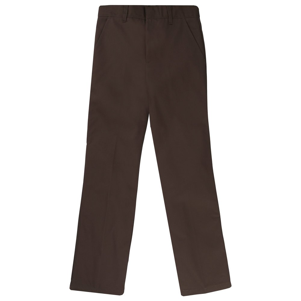 French Toast Big Boys' Flat Front Double Knee Pant with Adjacent Waist SK9001
