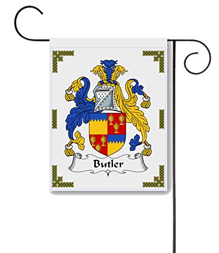 Carpe Diem Designs Butler Coat of Arms/Butler Family Crest 11 X 15 Garden Flag - Made in the ()
