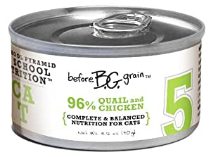 Merrick Before Grain #5 Quail Paté Style Cat Food, 3.2 Ounce Can (24 Count Case)
