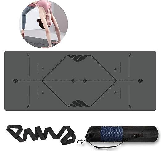 ACOMDSS Esterilla Yoga Antideslizante - 5 mm de Goma Natural ...