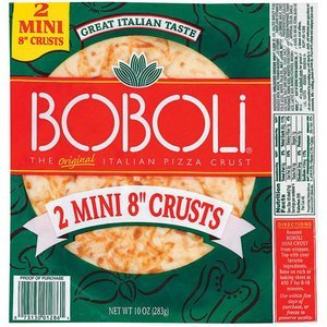 Boboli, 2 Mini 8 Pizza Crusts, 10oz Package (Pack of 3) by Boboli