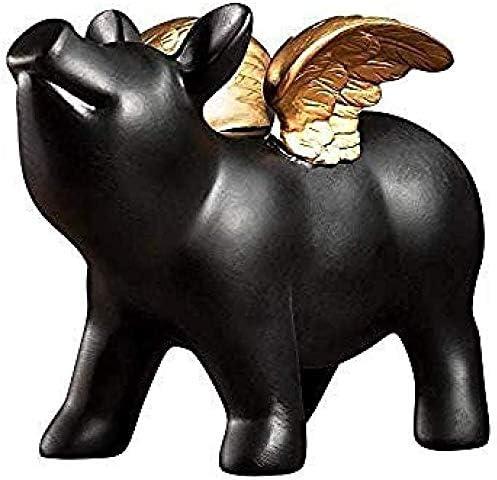 Detazhi Figurita Decoración de Escritorio de Colección Figuras Jardín Animales Figuras de cerámica Animales alcancía decoración del hogar Sala de Estar Decorada en Negro: Amazon.es: Hogar