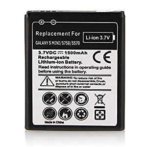 1500mAh Lithium-ion Battery for Samsung S5750E S5570 Galaxy Mini S7230E