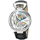 Stuhrling Original Men's 'Legacy' Automatic Stainless Steel and Leather Dress Watch, Color:Black (Model: 627.01)