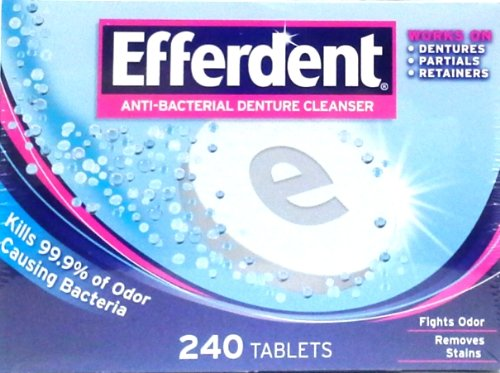 Efferdent Anti-Bacterial Denture Cleanser 240 TABLETS