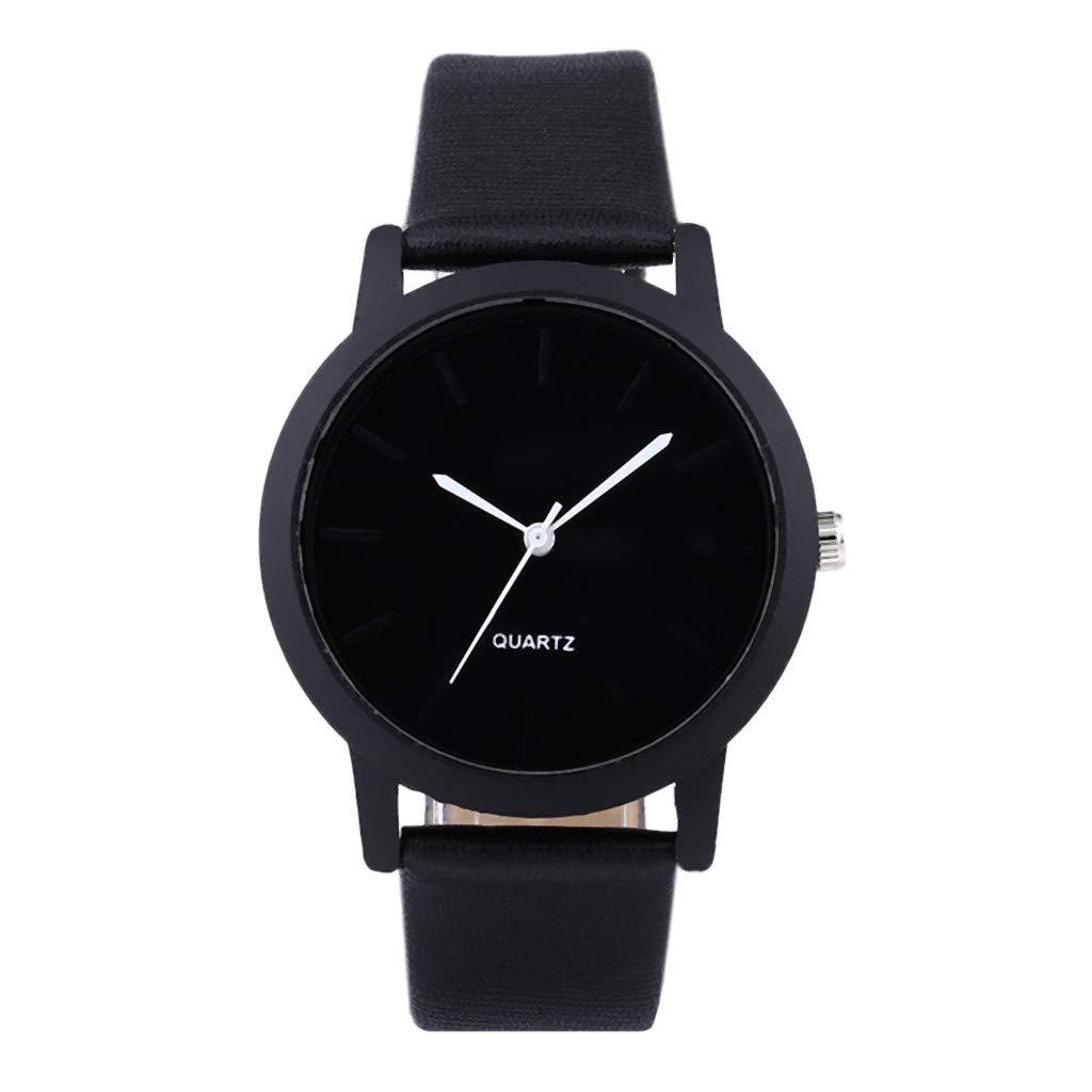 XBKPLO Quartz Watches for Women's Minimalist Solid Color Analog Wrist Watch PU Strap Wristwatch Temperament Accessories Souvenir Ladies Gift