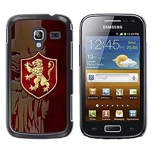 LECELL--Funda protectora / Cubierta / Piel For Samsung Galaxy Ace 2 -- León de Oro Sigil --