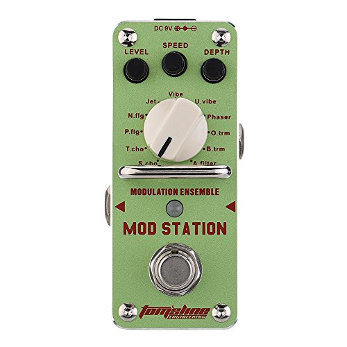 AROMA AMS-3 Mod Station Modulation Ensemble Electric Guitar Effect Pedal Mini Single Effect with True Bypass by Aroma