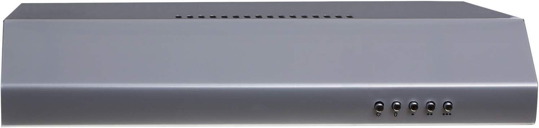 SIA STE50SI 50cm Silver Slimline Visor Cooker Hood Extractor Fan /& 3m Ducting