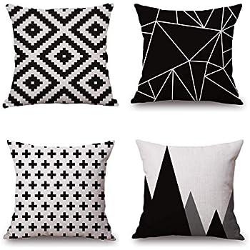 Amazon.com: Fundas para almohadones decorativos geomé ...