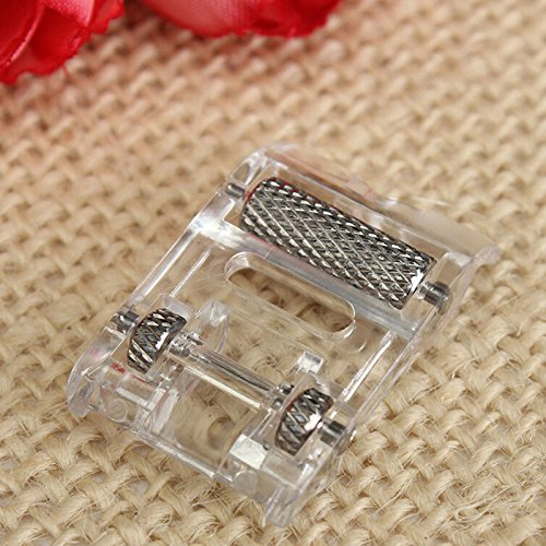 (Ioffersuper Low Shank Roller Presser Foot For Singer Brother Janome JUKI Sewing Machine)