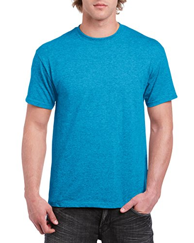 Gildan mens Heavy Cotton 5.3 oz. T-Shirt(G500)-HEATHER SAPPHIRE-L