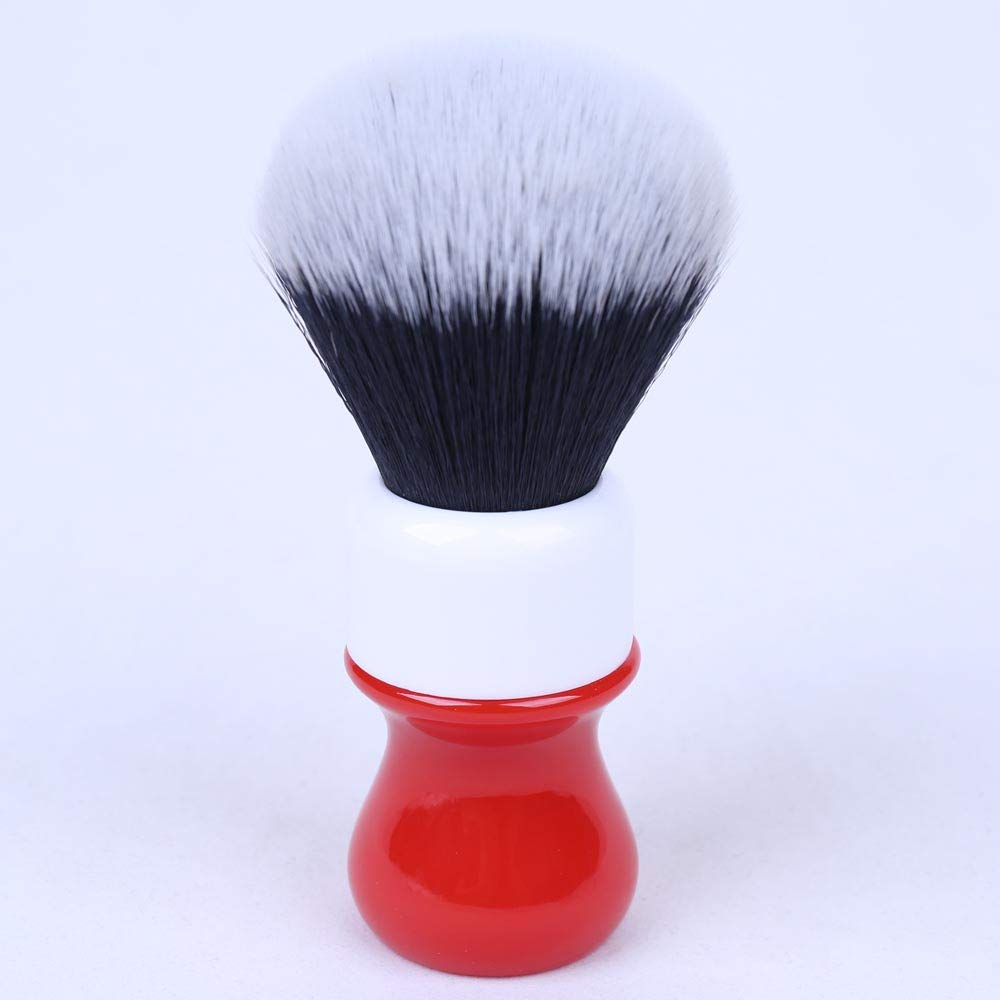 Ferrari Italian Classic 26mm Shaving brush by Yaqi | Synthetic Tuxedo Hair Knot with Durable Resin Handle | Get a Barber Quality Lather Each Time | R1732 Yaqi Brush