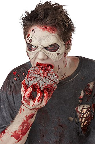 [California Costumes Men's Zombie Brain Pack, Red, One Size] (Zombie Prosthetics)