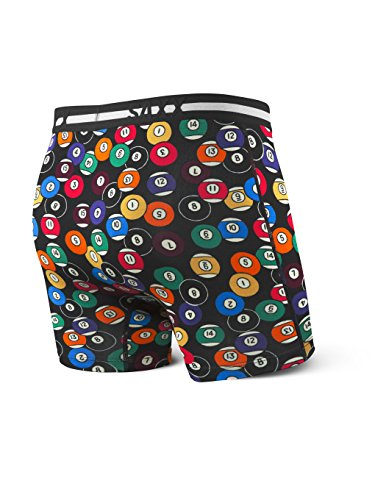 SAXX Mens Ultra Fly Boxer Eightball Boxer Brief Underwear Black 2XL: Amazon.es: Ropa y accesorios