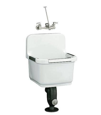 Kohler K 6652 0 Sudbury Service Sink White Laundry Utility