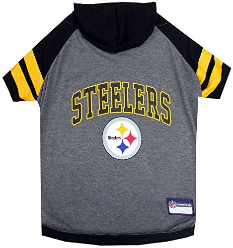 Image of Pets First Pittsburgh Steelers Hoodie T-Shirt, X-Small