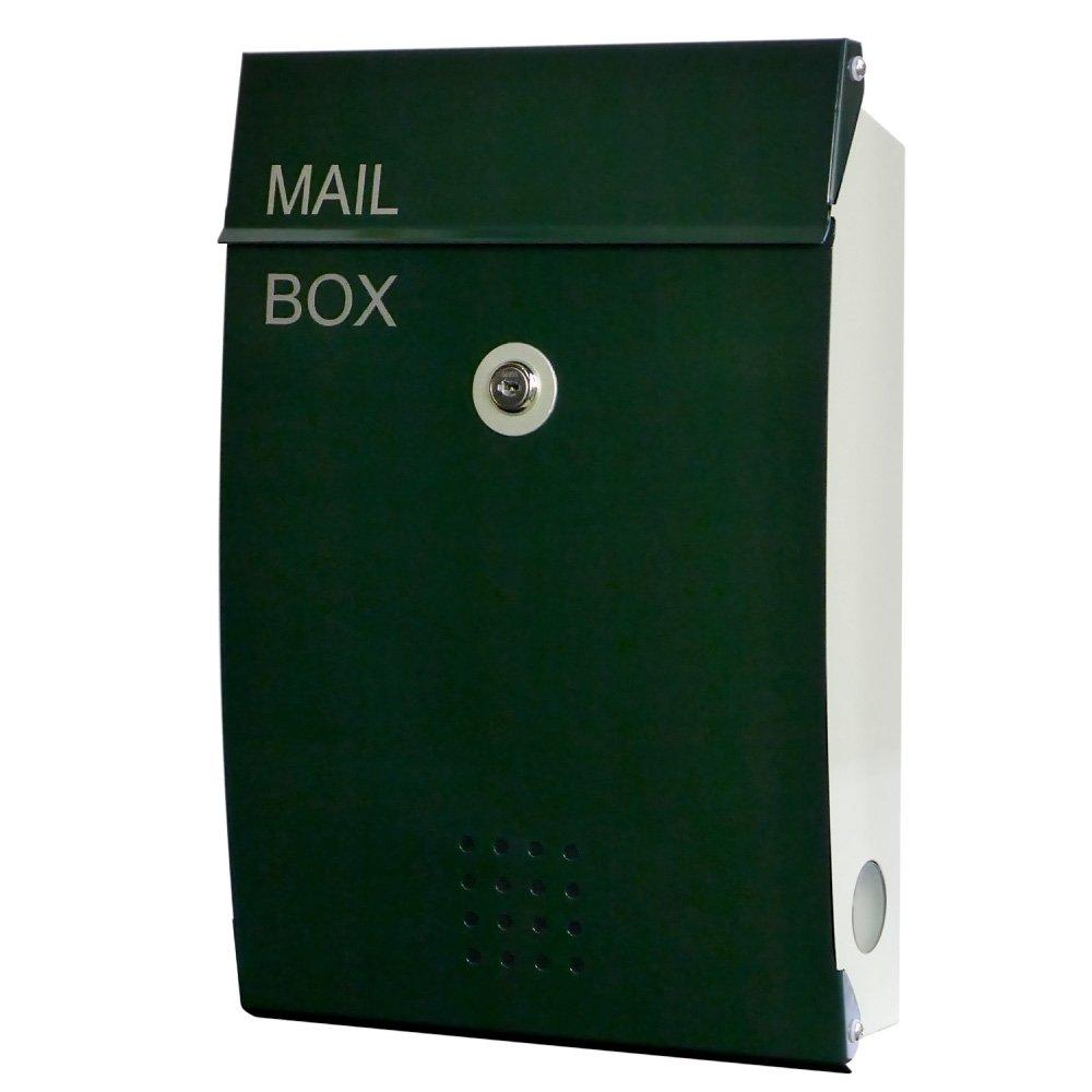 EUROデザイナーズポスト ユーロデザイナーズポスト MB5005 ダークグリーン 郵便受け MB5005-KM-DARKGREEN 099 奥行26×高さ38×幅8.5cm B07DL28T29 ダークグリーン ダークグリーン