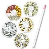 Coscelia Nail Art Rhinestones Gems Picking Crystal Tool Wax Pencil Pen Varied Colors of Rhinestones