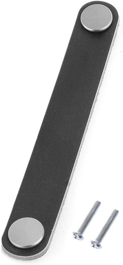 128 Noir Siwetg Poign/ée de meuble en cuir PU souple