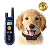Training Dog Collar - [Upgraded] Dog Training Collar, Rechargeable and All Weather Resistant, All Size Dogs, Long Lasting Battery Life, 1000ft Range Remote with Beep, Vibration and Shock Electronic Collar