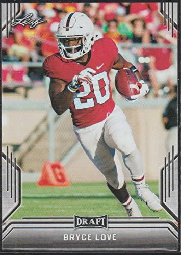 2019 Leaf Draft Bryce Love Redskins Rookie Football Card #7