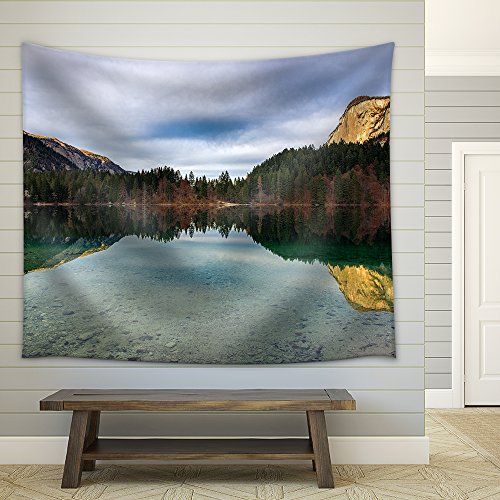 Mountain Lake Fabric Wall Tapestry