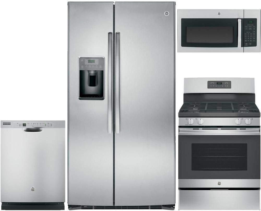 Amazon.com: GE 4-Piece Kitchen Package with GSE25HSHSS 36 ...