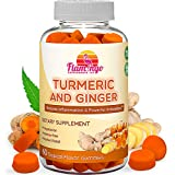 Turmeric Curcumin & Ginger Chewable Gummies for Adults and Children. Anti Inflammatory Supplement for Joint Relief…