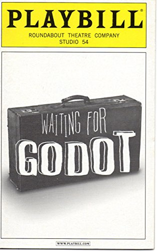 Waiting for Godot Playbill for the 2009 Roundabout Theatre Company's Broadway Revival, Starring Nathan Lane, Bill Irwin, John Goodman, John Glover , Studio 54, April 2009