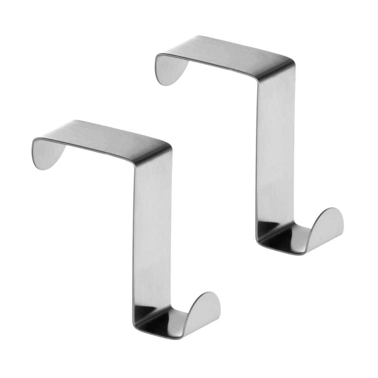 Reversible Over Door Hook   Stainless Steel   Set Of 2: Amazon.co.uk: DIY U0026  Tools