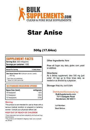 Bulksupplements Star Anise Powder (500 grams) by BulkSupplements (Image #1)