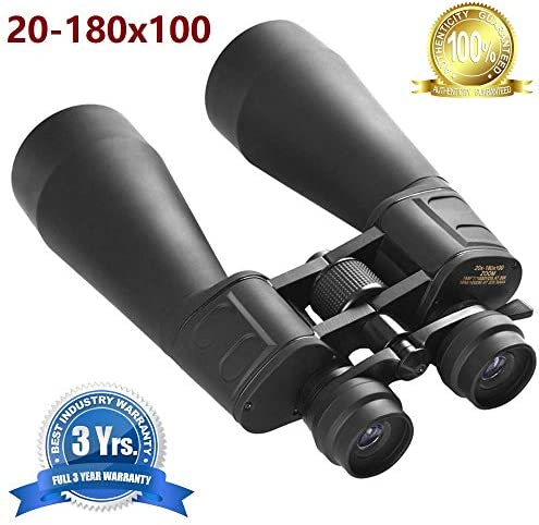 [해외]BinocularsLow Light Night Vision HD 20-180x100 High Resolution Optics Zoom Large Eyepiece High Power Waterproof Binocular Easy Focus for Outdoor Telescope for Adults / BinocularsLow Light Night Vision HD 20-180x100 High Resolution ...