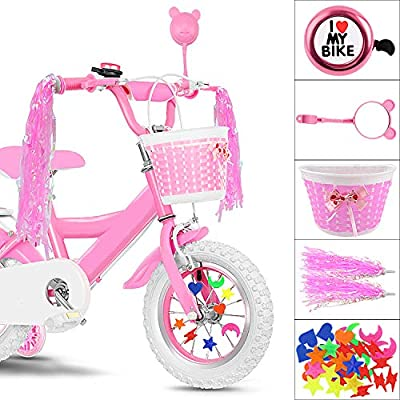 Bike Decoration /& Accessories Kit for Kids Pink Star