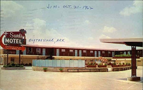 Sands Motel - 357 Division Street on Highway 61 Blytheville, Arkansas Original Vintage Postcard
