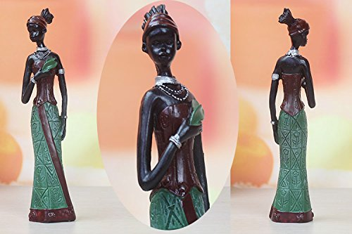 TBW African Tribal Women Collectible Figurines for Mother's Gifts,Green,Pack of 3 by TBW (Image #10)