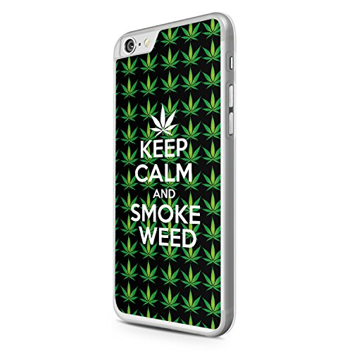 Keep Calm And Smoke Weed iPhone 6 Hülle Cover Case Schale Joint Fun Funny